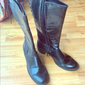 Amiana black boots